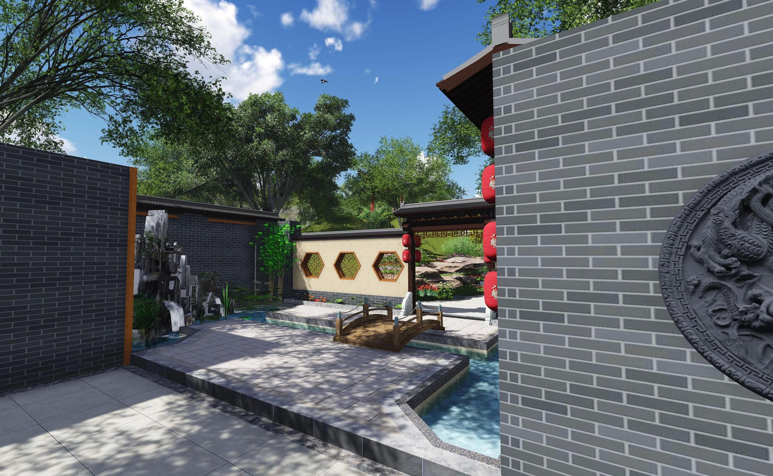 景观设计 园林景观设计 新中式庭院园林景观设计——隐居田园,与自然图片