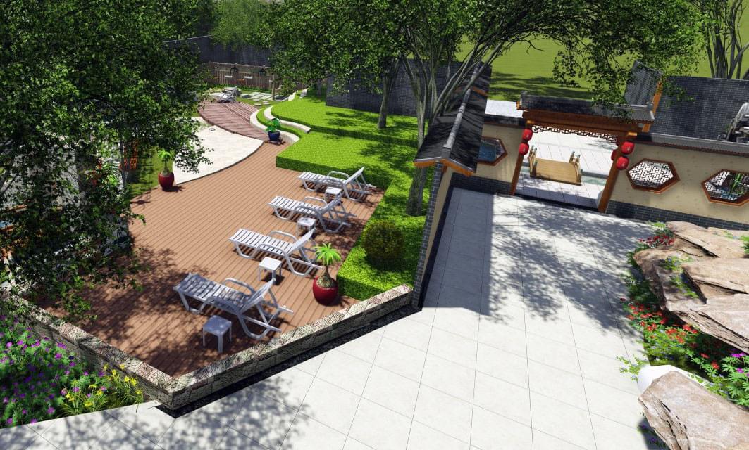 首页 中艺源方案 景观设计 园林景观设计 新中式庭院园林景观设计——