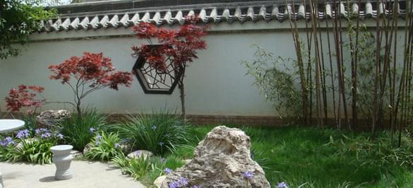 园林景观设计 新中式庭院园林景观设计——隐居田园