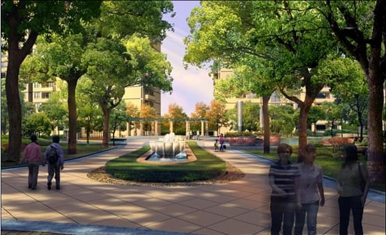 惠州景观设计现代简欧小区广场图片