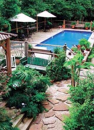 地产景观设计 东南亚别墅庭院