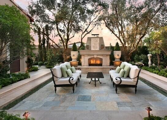 地产景观设计|法式别墅庭院