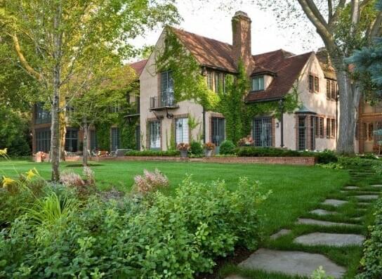 地产景观设计|美式别墅庭院|园林景观设计|园林工程