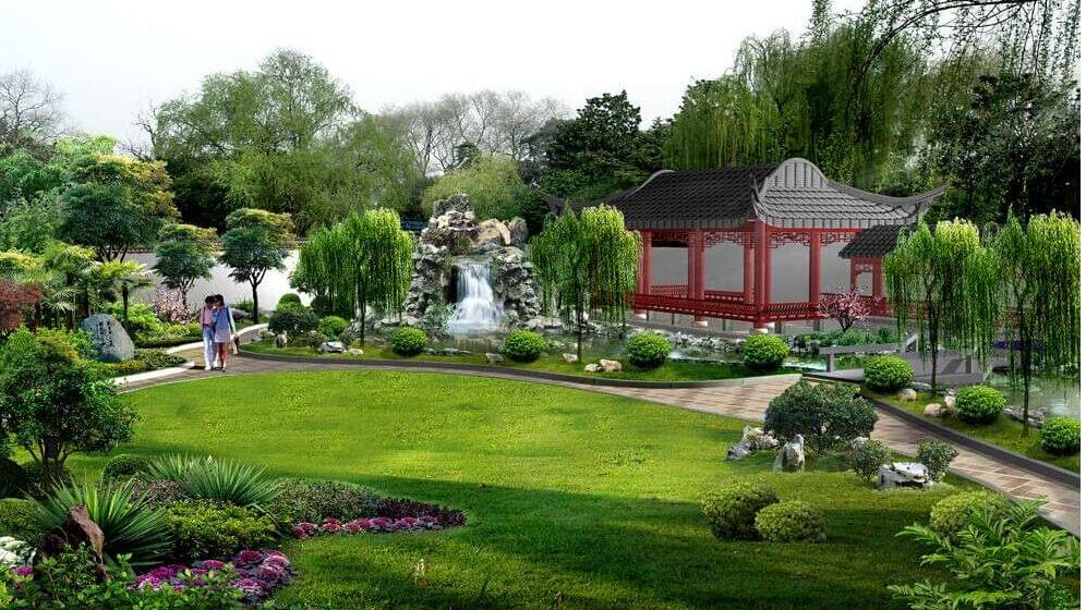 关于住宅小区东莞园林绿化设计公司