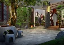 深圳景观设计之中式庭院