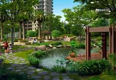 深圳景观设计之中式小区游园