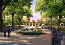 惠州景观设计现代简欧小区广场