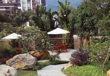 惠州园林绿化之别墅小花园