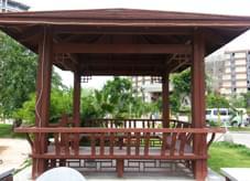 中式园艺工程典范,给人不一样的清凉体验—小区凉亭