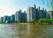 园林绿化形式塑造了小区滨江公园绿化