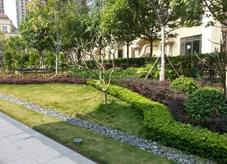 小型精致之园林绿化成就独特高档宅旁小游园