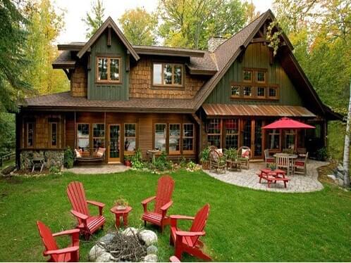 美式别墅庭院带你走进不一样的地产景观设计