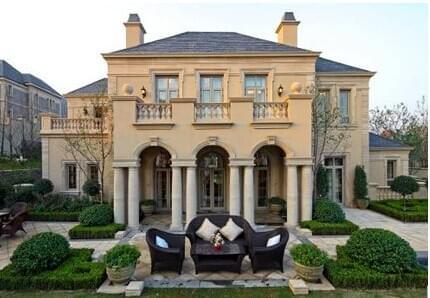 园林工程法式别墅庭院领略浪漫的异国风采