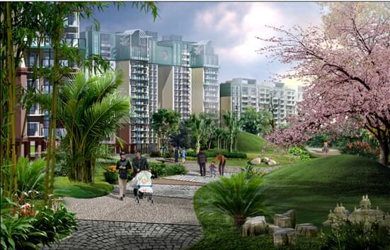 现代自然风格地产绿化设计,让您感受自然-深业万林湖