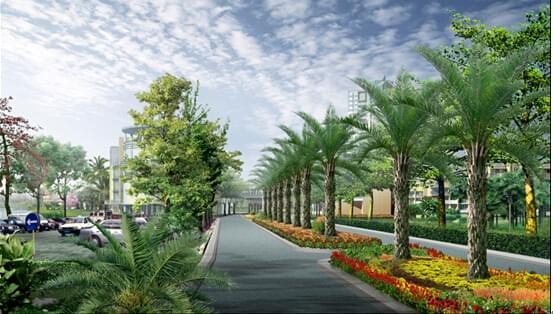 地产绿化设计小区道路