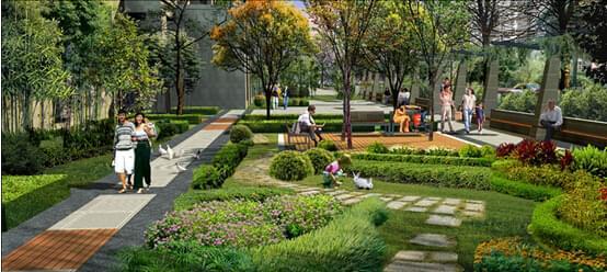 地产绿化设计,绿色细节美让您轻松体验