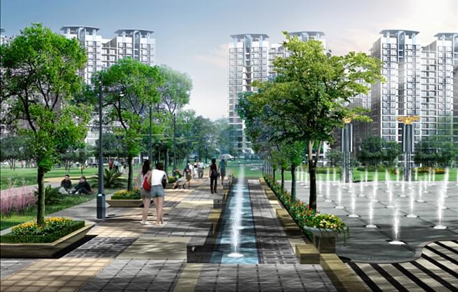 高档典雅风范的小区广场-地产园林设计