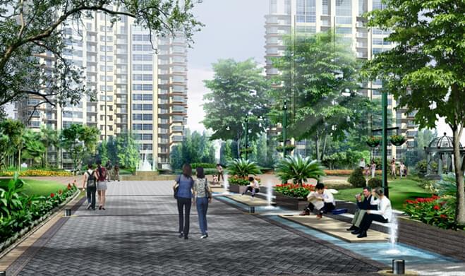 高档体验,万科小区道路地产园林设计