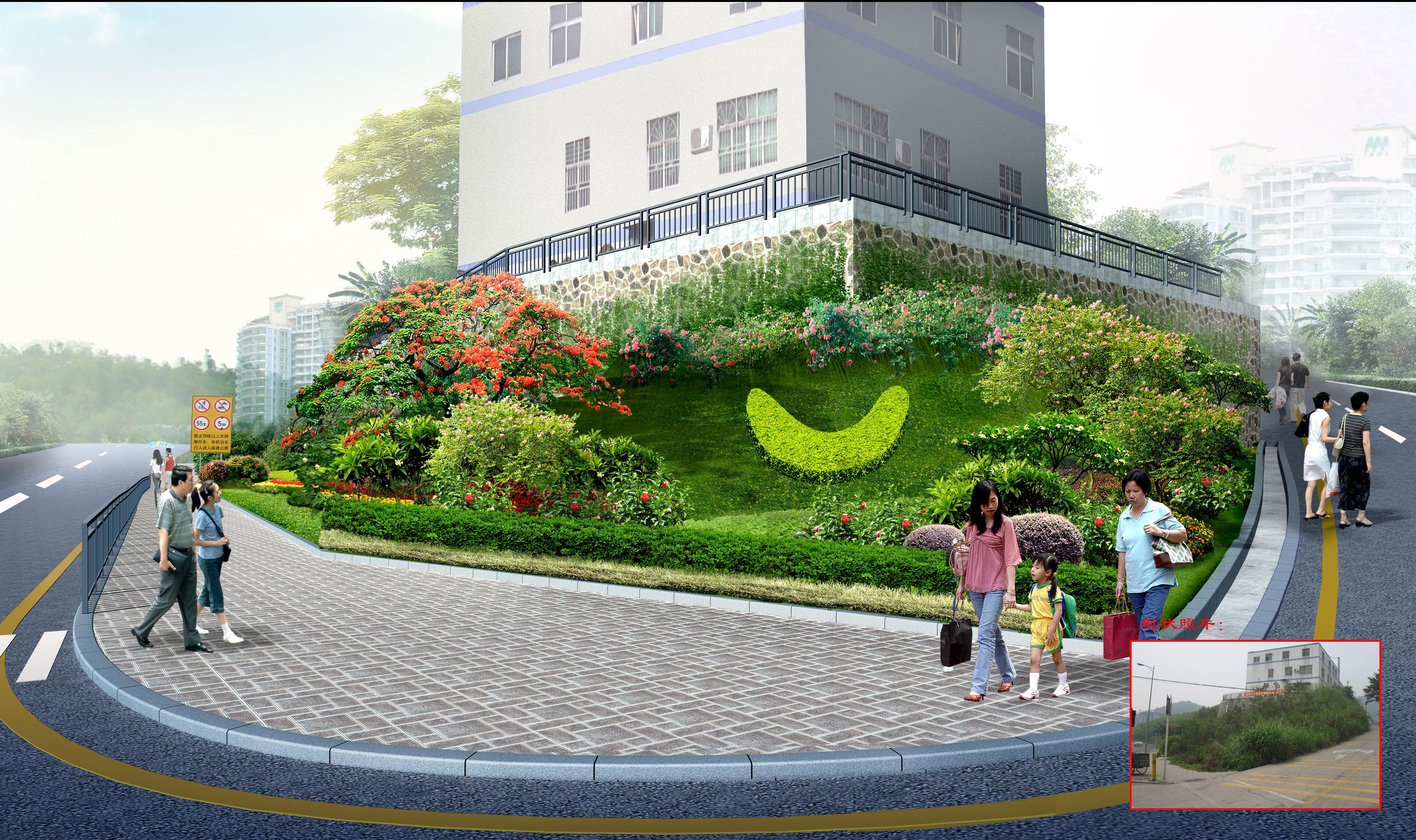 深圳布吉西环路道路景观设计