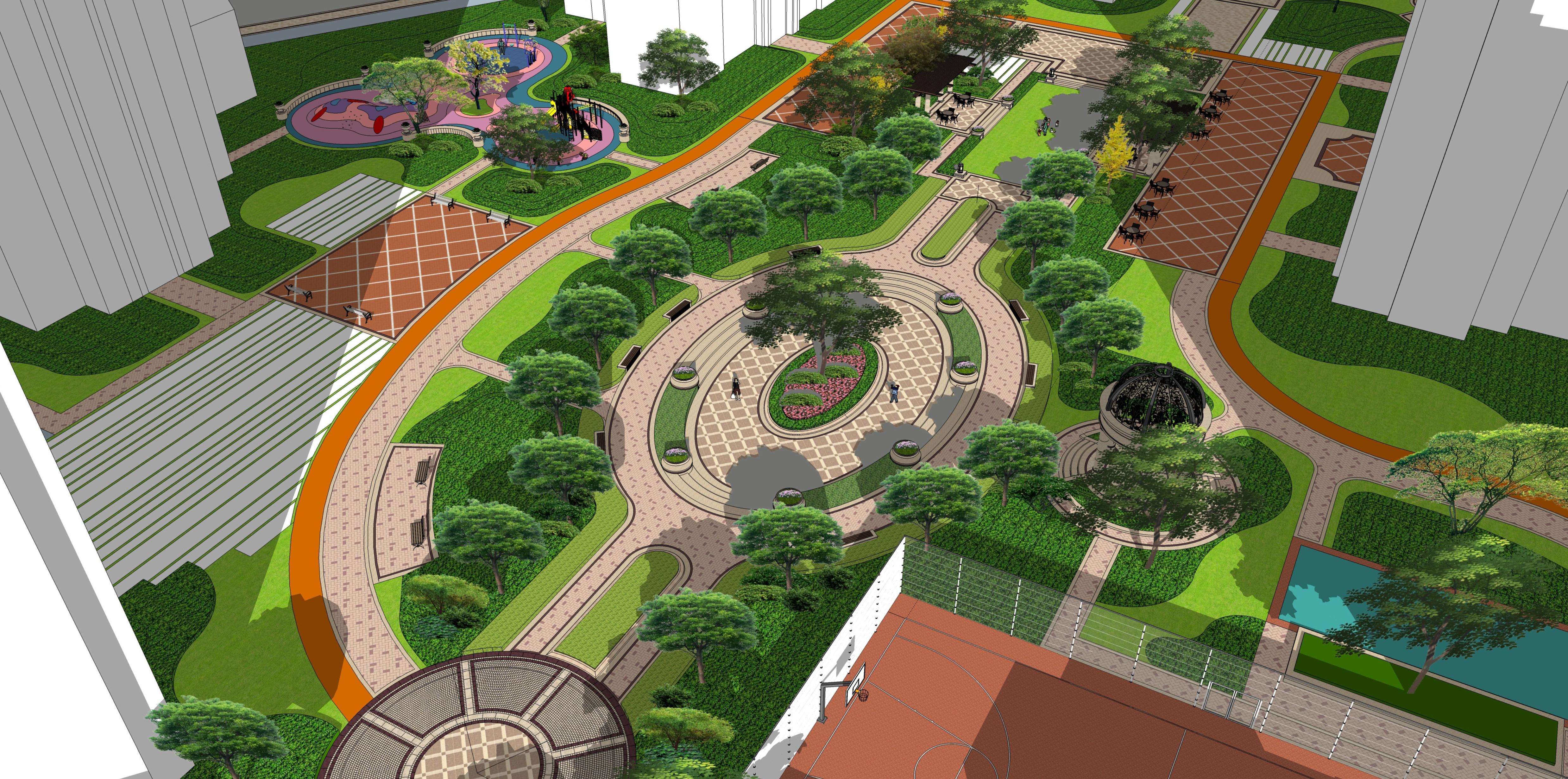 惠州半岛1号居住区景观设计